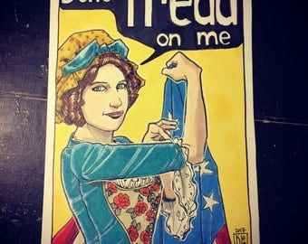 "Set of 5 Betsy Ross Postcards ""Don't Tread on Me"""