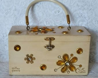 Enid Collins, Vintage Box Handbag, Mille Fleurs, Sweet Handbag, Collins of Texas