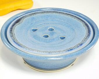 Soap Dish - Draining Soap Dish - Self Draining Dish - Soap Dish Drain - Sink Soap Drain - Soap Bowl - Soap Plate - Soap Saver - In Stock