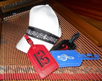 Music Hat and Luggage Tag of Your Choice