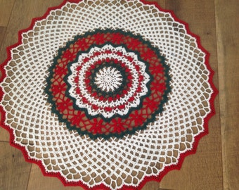 Crochet Christmas Table Center, new, thread art, fantastic, traditional, ready to ship