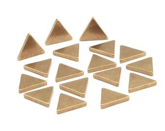 Brass Triangle Blank, 24 Raw Brass Triangle Blanks (11x11x11x1.5mm) D129
