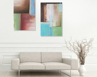 Original abstract painting wall art deco by Elsisy 48x36 Christmas sale
