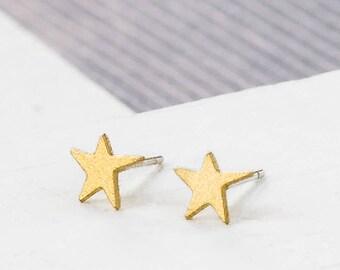 Star Post Earrings, star earrings, signature earrings, space jewelry