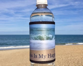 20 beach wedding favors mermaid can wraps drink wraps  my happy place Outer Banks wedding welcome bridesmaid groomsmen BeachHouseDreams
