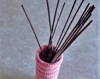 Bonnie's OOAK Crochet Cotton Thread item  Pinkish Incense Stick Tube- Stasher