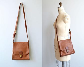 Coach 'Shelburne Flap' bag | vintage brown Coach shoulder bag | british tan Coach cross body bag