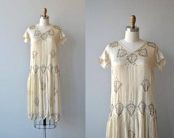 Starla beaded dress | vintage 1920s dress | beaded silk 20s dress