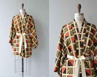 Jio silk haori jacket | vintage 1950s silk kimono jacket | silk japanese kimono