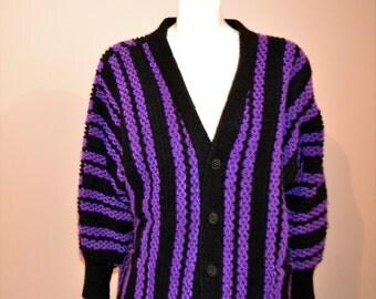 Vintage Purple Rain with Black Sweater