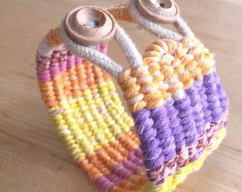 tapestry woven cotton cuff bracelet fishtail string cuff bracelet 4099