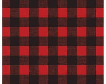 Buffalo Outdoor Plaid Red/Black - 12X12 Scrapbook Papers - 4 sheets | Woodland