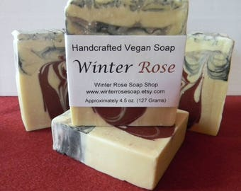 ON SALE - Winter Rose Soap - All Natural - Artisan Soap - Handcrafted - Vegan - Palm Free - Cold Process