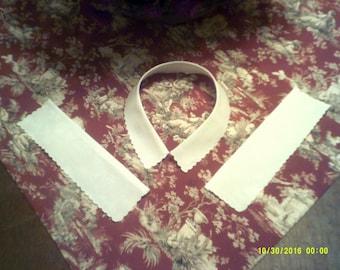 "Collar and Cuff Set for Civil War Dress 15.5"" Neck"