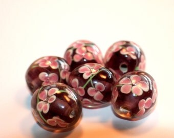20 x 18mm Barrel Shaped Flower Lamp Worked Beads