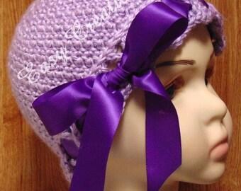 CROCHET PATTERN Crisscross Beanie hat girl girls baby babies toque cloche ribbon 0 to 12mo skill level intermediate