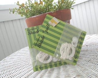 SOLD * Vintage Shade Pulls * Shabby Chic * Cottage * Old Farmhouse * NIP * NOS