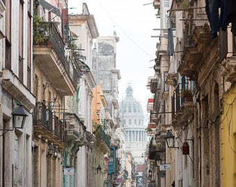 Cuba Photography, The streets of  Old Havana, Cuban Architecture, Travel Photography, Color Photography, Wanderlust, Old Havana, Visit Cuba