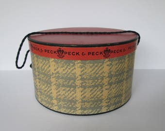 Vintage Peck & Peck Hat Box - Fifth Ave. NY