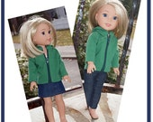 14 inch Doll  Hoodie and Hat  will fit Dolls like  Wellie Wishes  - Hoodie -  Skirt -  Leggings