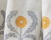 custom dandelion linen valance