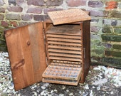 Letterpress Cabinet - Antique High Explosives Box - Metal Printers Type - Jewelers Compartment Storage
