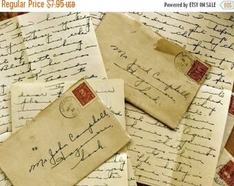 ONSALE Ephemera Old Love Letter post marked 1933 to 1937