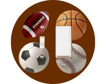 Sport Ball Toggle and Decora Rocker Switch Plate Cover