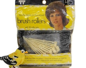 14 Vintage Hair Curlers | Professional Brush Rollers | Unopened Package | 20 Roller Pins | Medium Rollers | Hair Care | Faberge USA