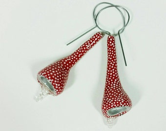 Red Dotted Long Cuppers