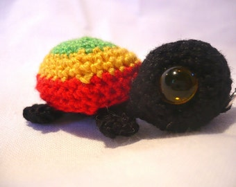 Soli la tortue Amigurumi kawaii Rasta