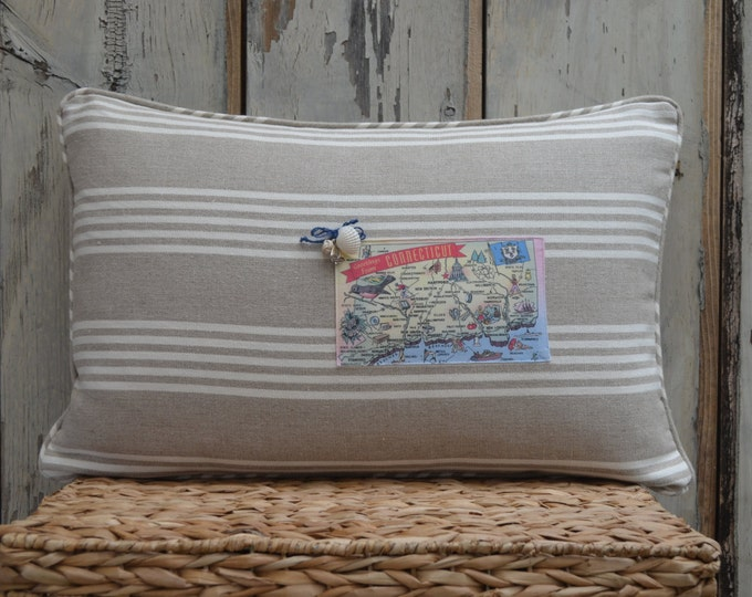 Connecticut Postcard Pillow  (available in 4 styles)