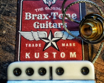 Cigar box guitar pick up & bridge