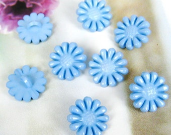 Lovely daisy button - 12 pcs