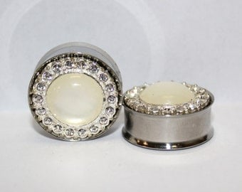 "Diamond Wedding Plugs 1"" 25mm Double Flare"
