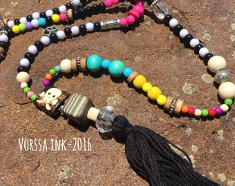 Boho style tassel necklace