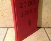 1945 Gregg 20,000 Words Antique Book