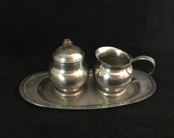 Oneida, Stainless Steel, Cream, Sugar, Set