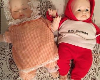 Twin State Fair Porcelain Dolls