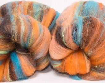 Art batts,  Merino, Icelandic,  Ingeo corn fibre, Falkland, gold sparkles, Spinning wool, felting fibre, 112g, Seville