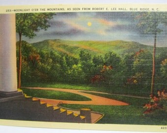 Robert E. Lee Hall, Blue Ridge, North Carolina  Post Card FREE Domestic Shipping