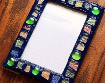 Funfetti Mosaic Picture Frame (holds a 4 x 6 photograph)
