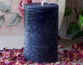 "BLACK CAULDRON BREW™ ""Old European Rustics""™ Signature Scent Pillar Candle w/ Dragon's Blood Frankincense Mugwort Myrrh Patchouli & More"