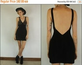 END OF 2016 SALE Vintage 80s Suede leather Studded Rocker Black Metallic gold Party Bandage Bodycon Mini dress Xs S