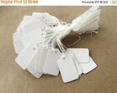 MOTHERS DAY SALE Jewelry price tags - Blank white rectangular tags - Set of 100 (Xt104)