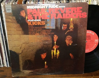 Midnight Ride With Paul Revere & The Raiders Vintage Vinyl Record