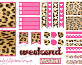 Sassy Leopard Print stickers for Erin Condren Life Planners
