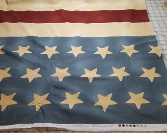 Cotton americana flag border print almost 2yd