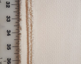 Upholstery weight Home dec Off white Textured aprox 2yd