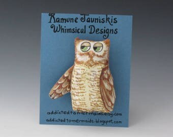 Owl Pin, Owls, Owl, Birds